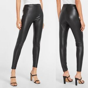 Express   Faux Leather High Waist Ankle Leggings